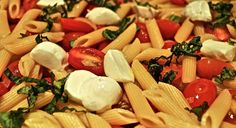 Penne with Cherry Tomatoes, Basil, and Mozzarella | 24 Pasta Recipes That Are Perfect For Summer