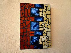 Tile mosaic wall art on Etsy, $95.00