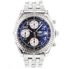 Breitling Blackbird Chronomat DATE A13350 LIMITED EDTION Steel Watch for Men #Breitling #LuxurySportStyles