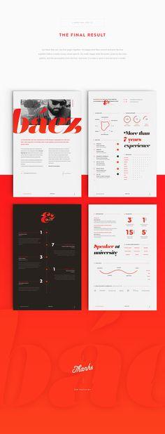 My CV   resume by João Andrade, via Behance CV look book - my cv resume