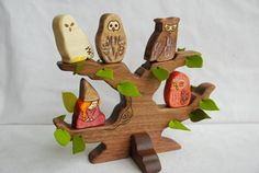 Owls at play