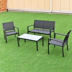 patio furniture sets clearance 9 piece all weather wood table