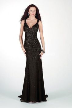 2014 Black Sparkly Sequin Formal Long Prom Dress