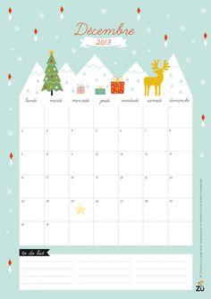 Calendrier Décembre 2013 DIY by Zü free printable