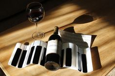 Piano Wine Rack made of Fused Glass by DragonfliesCeilidh on Etsy, $85.00