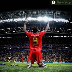 #Repost @fifaworldcup      Les Diables font peur!  #Belgium knock #Brazil out! #WorldCup #Russia #Kazan #RedDevils  #semifinals