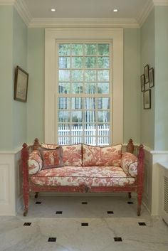 Farrow and Ball Theresa's Green Princeton Restoration - traditional - hall - new york - Dennison and Dampier Interior Design