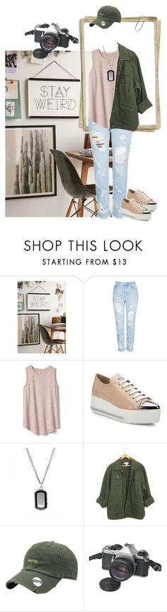 """""""stay weird"""" by oriza-int ❤ liked on Polyvore featuring Urban Outfitters, Topshop, Gap, Miu Miu and Pentax"""