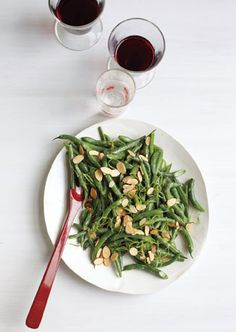 September food - Green Beans with Miso and Almonds - @Bon Appetit