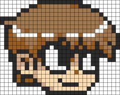 Scott Pilgrim Perler Bead Pattern / Bead Sprite