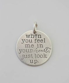 Beautiful message necklace charm.