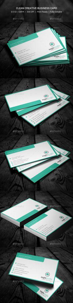 Clean Creative Business Card  #template #creative #business