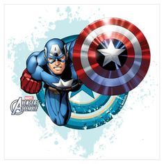 Captain America Flying Wall Art Poster