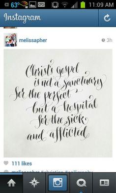 Melissa Esplin's calligraphy: Christ's gospel