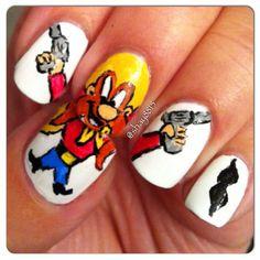 shay8815: Yosemite Sam  #nail #nails #nailart