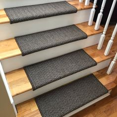 Aspen Moose or Caribou Wool True Bullnose™ Padded Carpet Stair Tread Runner Replacement Style Comfort & Safety (Sold Each) - Entryway - Combins Deep Carpet Cleaning, How To Clean Carpet, Beige Carpet, Patterned Carpet, Modern Carpet, Brown Carpet, Wall Carpet, Diy Carpet, Carpet Manufacturers