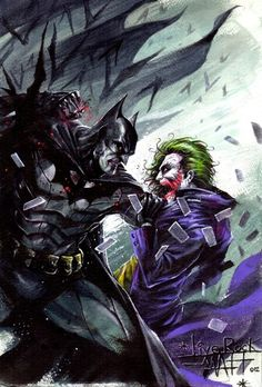 Batman vs Joker by LiveRock