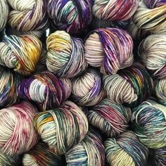 pressed flowers has just passed wild flowers as our most popular colourway - here it is shown dyed on our 4ply superwash worsted