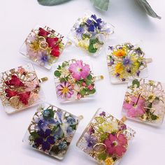Diy Resin Art, Diy Resin Crafts, Uv Resin, Diy Crafts To Sell, Diy Crafts For Kids, Diy Resin Tutorial, Resin Jewelry Tutorial, Wallpaper Nature Flowers, Pressed Flower Art