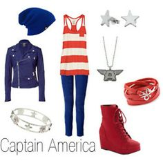 How to dress like... Captain America. Some day I'm going to put all these fandom clothing outfits together. Just wait.