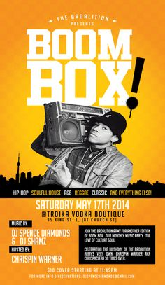 May 17, 2014 Music Party, Boombox, I Party, Reggae, Dj, Hip Hop, Parties, Entertaining, Movie Posters