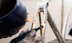 Petrini Cicli bici elettrica fasi di lavorazione saldatura telaio