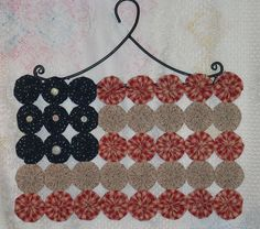 Patriotic Flag Country Americana Yo Yo Wall by victoriancrafts, $24.99
