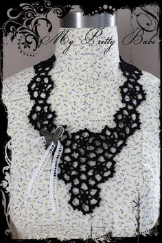 Crochet Collar Necklace Detachable Collar Handmade by myprettybabi