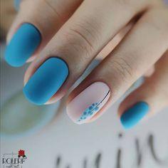 Acrylic Nail Designs, Nail Art Designs, Acrylic Nails, Stylish Nails, Trendy Nails, Cute Gel Nails, Square Nails, Perfect Nails, Blue Nails