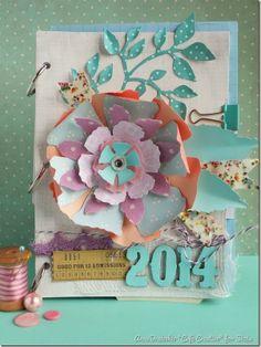 cafe creativo - Anna Draicchio - sizzix big shot - Mini album - Jumbo Tattered Florals