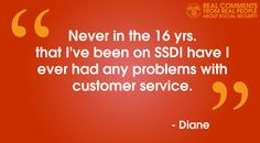 #RealComments from #RealPeople about #SocialSecurity.  We appreciate Diane's statement.