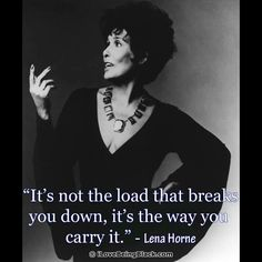 Lena Horne...A true CLASS ACT!