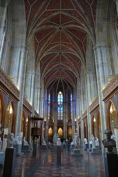 Chapter 11: Romanesque Revival/Richardsonian Romanesque: Werdersche Kirche Interior. Berlin, Germany. Architect: Karl Friedrich Schinkle