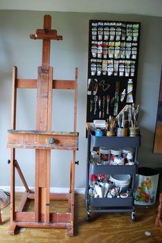 Art Studio Storage, Art Studio Room, Art Studio Design, Art Studio Organization, Art Studio At Home, Art Storage, Painting Studio, Studio Studio, Organization Ideas