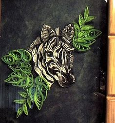 Zebra done in quilling