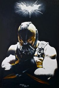 DARK KNIGHT RISES: Bane  $15.00 Poster Print of original colored pencil drawering by @Martin Rocha