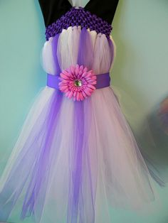 Tulle toddler dress :)@Jenna Harper @Elizabeth Goggans i am going to attempt to make this with a carnation for the flower since my flowers are carnations!