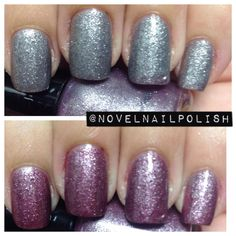Full Size (13.2 mL) Charcoal Silver Grey to Plum Thermal Nail Polish - Daggers in the Dark