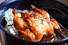 Making this tonight.....Crispy Roasted Garlic Chicken Recipe | gimmesomeoven.com