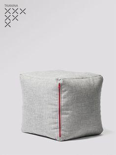 Pufa Cube G Tkanina produkt Teak, Ottoman, Chair, Furniture, Home Decor, Decoration Home, Room Decor, Home Furnishings, Stool