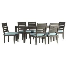 Campbell Dining Table With Glass & Swivel Chair Dining Set