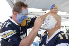 San Diego Chargers Face Paint