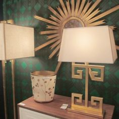 great bedside lamps - Clayton Gold Leaf - very Palm Beach