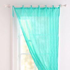 Twisted Sheer | PBteen    Pool or lavender...hang up in between blackout…