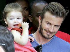 David & Harper Beckham!