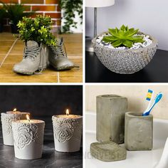 Crafts on Cool cement projects you can make diy craft projects videos - Diy Craft Videos Diy Craft Projects, Diy Crafts For Home Decor, Diy Crafts Hacks, Kids Crafts, Diys, Easy Crafts, Soup Can Crafts, Tin Can Crafts, Decor Diy