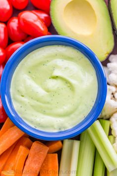 Love ranch dressing? You'll flip for this avocado ranch dressing and dip. So creamy with amazing flavor! Perfect as avocado ranch dip or salad dressing! | natashaskitchen.com