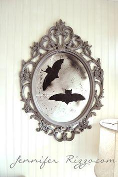 Make a vintage-inspired halloween mirror….