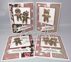 2016  Cookie Cutter Christmas Gingerbread & Bear Gate Fold Cards