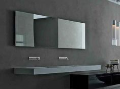 Rectangular wall-mounted mirror SHY2 Shy Collection by RIFRA